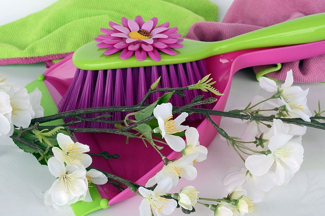 spring coloured cleaning items